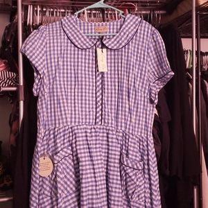 Plus Size Lindy Bop Gingham Day Dress 18
